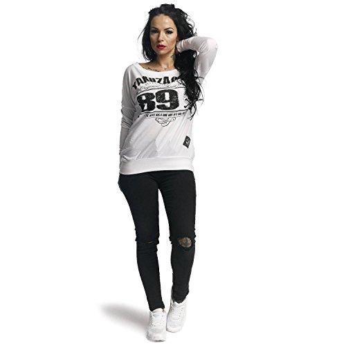 Yakuza Original Damen 893 Union Shirt Longsleeve Weiß