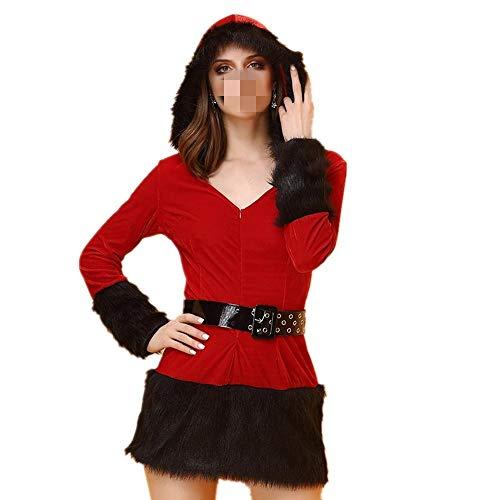 LSXZZY Xmas Christmas Costume Sexy Kostüm Cosplay Kostüm Adult Stage Dress - rot L (Lehrerin Kostüm Übergröße)