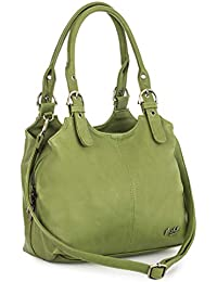 Big Handbag Shop BHBS Mittlere Größe Umhängetasche/Schultertasche für Frauen - Mit langem Schulterriemen und eine kleine Taschencharme