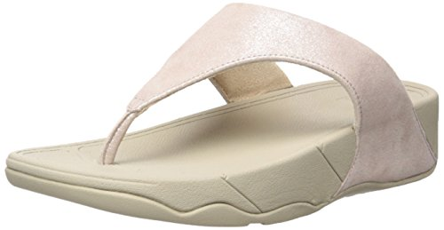 Fitflop Lulu Tm Shimmersuede Infradito Donna, Rosa (Nude), 41