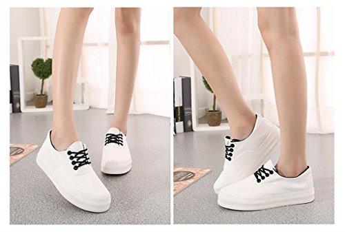 ALUK- Printemps Et Automne Toile Chaussures Casual Shoes Chaussures Étudiants Coréens ( couleur : Rouge , taille : 36 ) Blanc