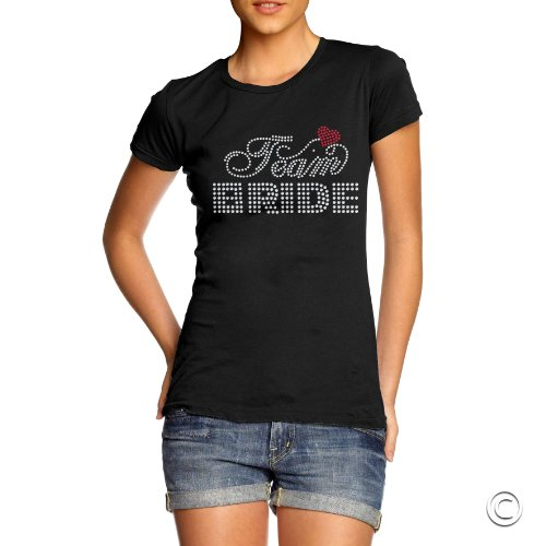 TWISTED ENVY Damen T-Shirt Schwarz - Schwarz