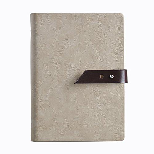 xytmy Fashion PU Leder Notebook Einzigartige Schließe nachfüllbar Tagebuch mit Pocket ideal für Schreiben, Geschenke, skizzieren, professionelle, Tagebuch, A5Notizblock. khaki