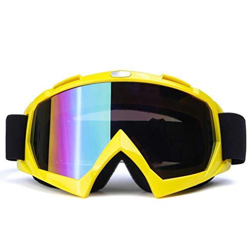 JSHFD Schutzbrillen, Skibrillen, Schutzbrillen für den Außenbereich (Farbe : Gelb) (Gelbe Snowboard-schutzbrillen)