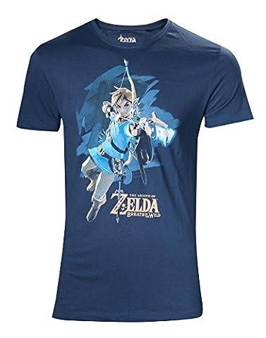 The Legend of Zelda Breath Of The Wild - Link With Arrow T-shirt bleu XL