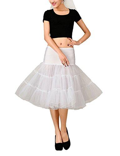VKStar®Jupon Femme Années 50 Vintage en Tulle Rockabilly Petticoat Tutu