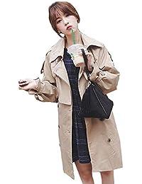b5bcf73e8116a Screenes Gabardina Mujer Otoño Largos Abrigos Doble Primavera Botonadura Manga  Larga Solapa Joven es Windbreaker Elegantes