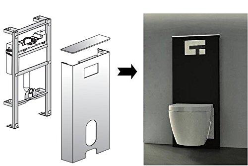 Sanit Sanitärmodul Ineo Solo Wand-WC,schwarz/weiß Vorwandelement Montageelement