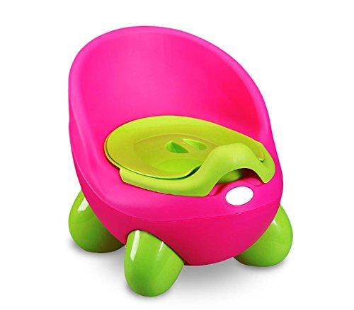 MEDIAWAVE Store Vasino bimbi POTTY BABY TOILET 363324 pratico sicuro e comodo con coperchio (Fucsia)