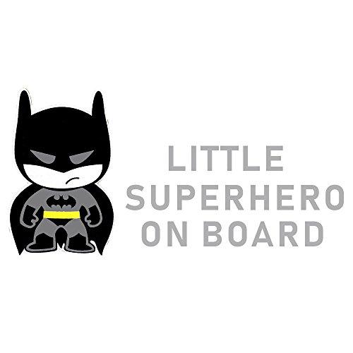 Reflektierende Autoaufkleber farbig, Baby an Board mit Superhelden ca. 20x10cm (Batman)