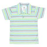 TupTam Baby Jungen Polo-Shirt mit Print Baumwolle, Farbe: Streifenmuster Grün, Größe: 80
