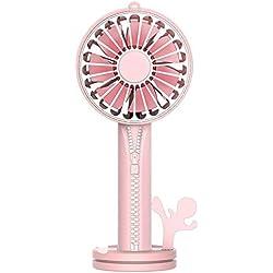 Rotation automatique du bureau 7 feuilles ventilateur de bureau miroir de maquillage titulaire de téléphone portable Zipper Design ventilateur usb portable petit ventilateur Vent vitesse de refroidiss