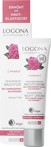 LOGONA Naturkosmetik Regenerierende Nachtcreme, Unterstützt die Regeneration der Haut während des...