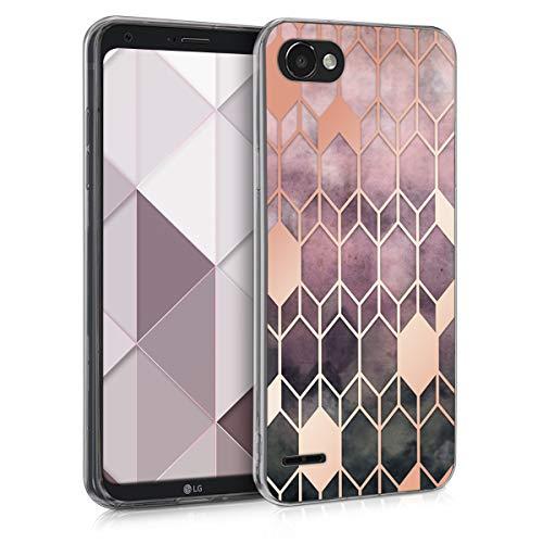 kwmobile LG Q6 / Q6+ Hülle - Handyhülle für LG Q6 / Q6+ - Handy Case in Pink Rosegold