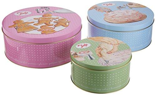 Boîtes à gâteaux Tala Retro - Design rond
