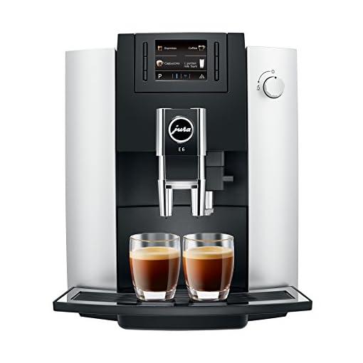 JURA 15079 E6 Coffee Machine, Platinum