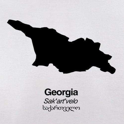 Georgia / Georgien Silhouette - Herren T-Shirt - 13 Farben Weiß