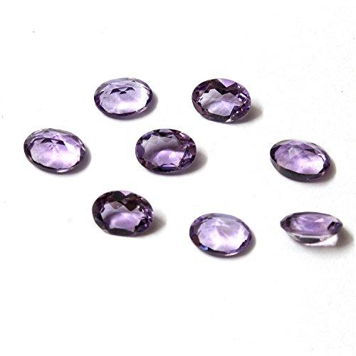 Be You Violet Couleur Naturelle Brésil Amethyste AA Qualité 9x7 mm Taille Facettes Ovale Forme Pierres précieuses en Vrac 100 Pièces