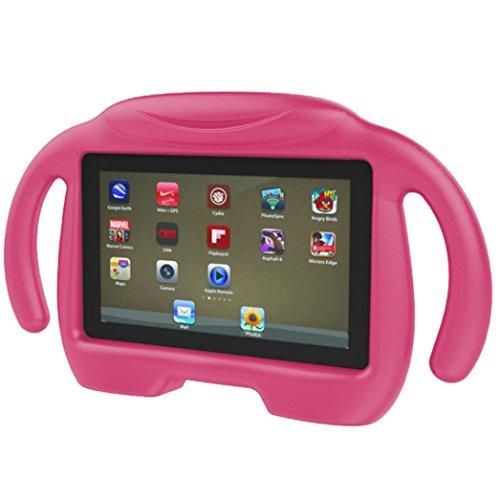 samLIKE Kinder stoßfest EVA Griff Stand Case Cover für Amazon Kindle Fire HD 7 2015 (pinK) Tablet-cover Für Kinder