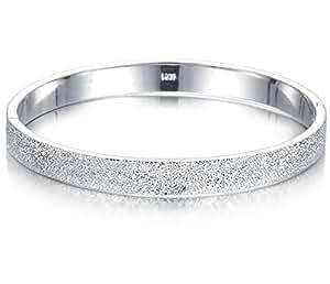 O.R.® (Old Rubin)Bracelet femme Bijoux givré bracelet argent de mode 925 plaqué en cuivre de femmes manchette Bracelets - ne se fanent jamais et l'allergie Anti-Nouveau design brillant Bracelet - Il est bon pour le cadeau d'anniversaire, cadeaux de Noël, cadeau de Valentine