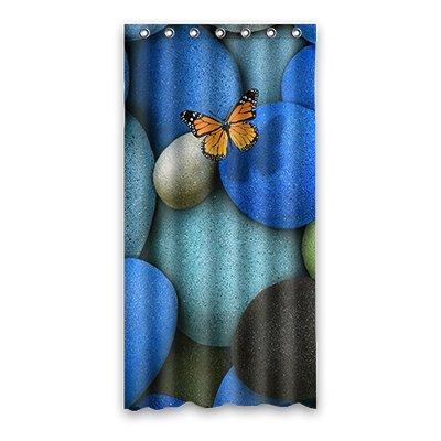 Dalliy Brauch Kieselstein Wasserdicht Polyester Shower curtain Duschvorhang 90cm x 183cm (Kieselsteine Duschvorhang)