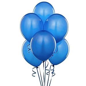 Shatchi 11142-BALLOONS-DARK-BLUE-010PK - 10 globos de color azul oscuro para decoración de fiestas, cumpleaños, bodas, bautizos, comuniones, aniversarios, 12 pulgadas