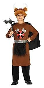 Atosa-20703 Disfraz Vikingo, Color marrón, 5 a 6 años (20703)