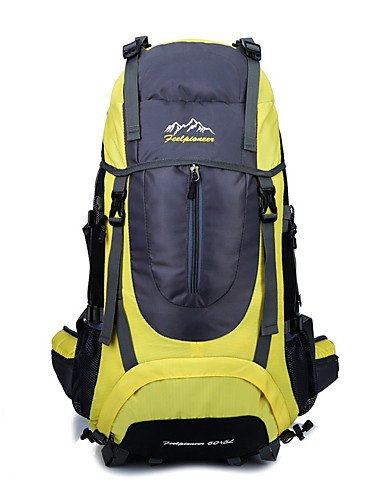 HWB/ 60 L Rucksack Camping & Wandern Draußen Kompakt andere Nylon Yellow