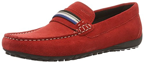 Geox Uomo Snake Mocassino F, Mocassins Homme Rouge (Redc7000)