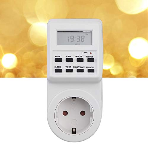 HDCooL Plug-in Programmable Timer Switch Socket with Clock Summer Time EU Plug - Cam Switch