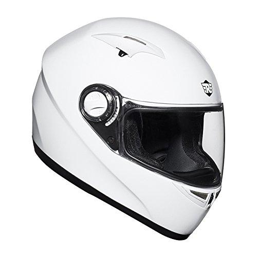 Royal Enfield HEA150005 Street Nimbus Full Face Helmet (White, Medium)