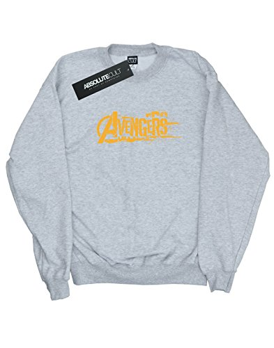 Avengers Femme Infinity War Orange Logo Sweat-Shirt Heather Grey