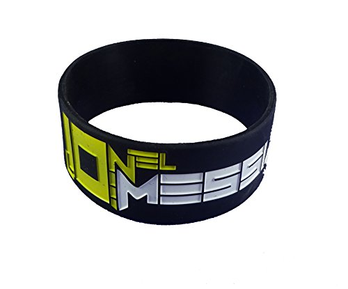 eshoppee Lionel Messi Silicone Wrist Bands for Men and Women Set of 2 pcs