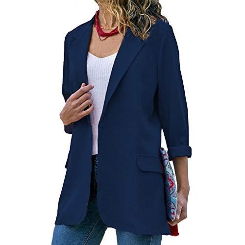 Dihope, Blazer Slim Fit Costume Basique pour Femme Veste de Tailleur Slim OL Manches Longues Manteau Casual Cardigan Jacket Coat Affaires Bureau