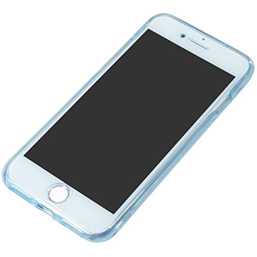 Coque iPhone 6S Plus, SevenPanda Souple Soft Intégrale Avant et Arrière Full Protection 360 Degrés Bling Glitter Scintillement Anti-Scratch Hull Couverture Anti-rayures Ultra Mince Transparente [Absor Bling - Bleu