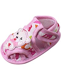 67a12c242374c LEvifun Sandales Bébé Fille Mode Chaussure Bébé Fille Garçon Bapteme Été  Pas Cher Chaussures Bébé Fille Garçon Premier Pas Sandales Bout…