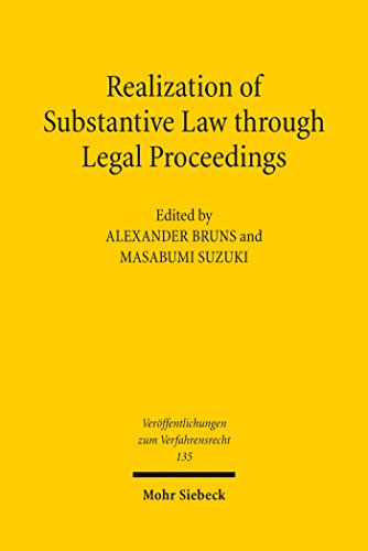 Realization of Substantive Law through Legal Proceedings (Veröffentlichungen zum Verfahrensrecht)