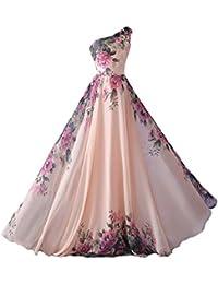 emmarcon Abito da Cerimonia Donna Damigella Vestito Lungo Elegante Floreale da Festa Party