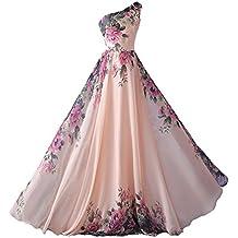 abito da cerimonia donna damigella vestito lungo elegante floreale da festa party