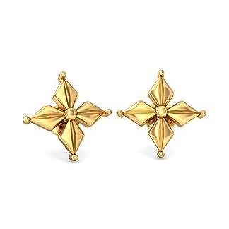 BlueStone 22k (916) Yellow Gold Tisya Stud Earrings