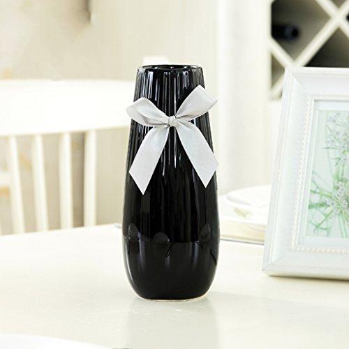 Vaso wqq ornamentali creativi minimalisti del fiore ceramica bianco ornamenti di ceramica moderni (colore : b, dimensioni : 20 * 6cm)