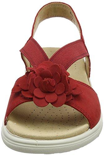 Hotter Damen Hannah Offene Sandalen mit Keilabsatz Red (Tango Red)