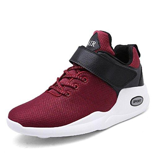 Hommes Mode Chaussures de loisirs Chaussures de sport Chaussures de course Formateurs Grande taille Chaussures de voyage UE TAILLE 39-48 Red