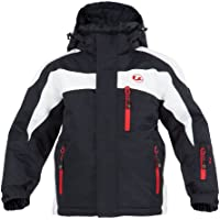 Ultrasport Kids Ski Jacket Polyfill Alpine Outdoor Jacket - Protective Outdoor Snow Jacket for Boys and Girls with Removable Hood and Lightweight Warm Padding - Unisex Insulated Snowboard Jacket Kids