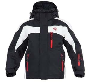 Ultrasport Kinder Ski Jacke Zürs, weiß/schwarz/rot, 134/140, 10365