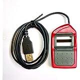 Yukonics ICONS Morpho Idemia MSO 1300 E3 USB All Purposes Biometric Device (Red and Black)