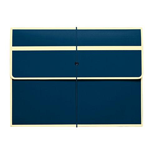 Semikolon Pochette mit Gummiverschluss marine (blau) | Stabile Sammelmappe passend für A4 Formate...