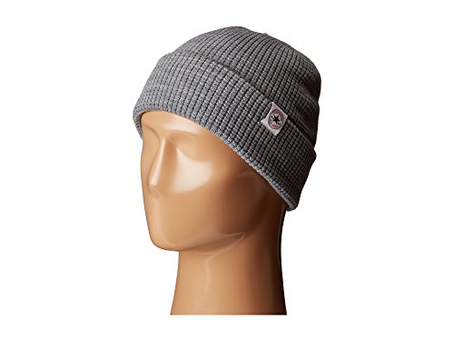 Heather Grey Thermal (Converse Erwachsene Thermal 2-in1 Knit Beanie, Heather Grey, One Size)