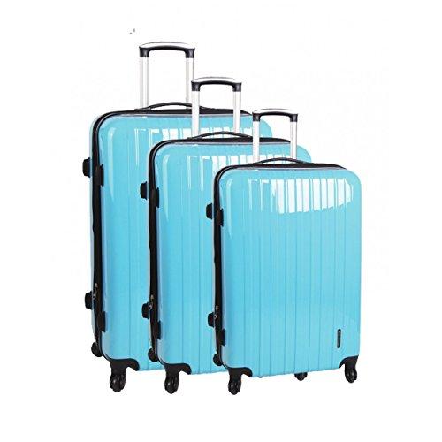 Set de 3 valises 4 roues sydney bleu