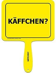 """'Panneaux jaunes + + le original + + Lustiges Jaune Plastique humoristique avec inscription avec poignée + + texte: """""""" """"käffchen?"""" """"+ + macagua actionneur + + Panneaux jaunes + + Idéal pour le bureau–Amenez vos collègues rire."""